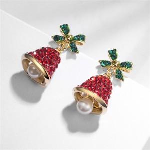 Christmas Bell High Fashion 18k Rose Gold Earrings