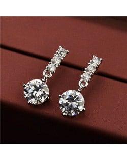Cubic Zirconia 18k Platinum Plated Women Earrings
