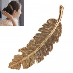 Vintage Leather Design Women Fashion Hair Clip - Vintage Golden
