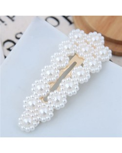 Acrylic Pearl Fashion Shining Women Hair Barrette