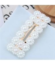 Acrylic Pearl Fashion Shining Bar Shape Women Hair Barrette