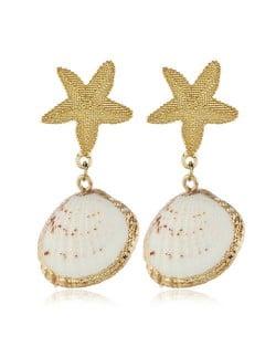 Starfish and Seashell Combo Beach Fashion Women Earrings