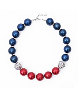 Mixed Color Acrylic Beads Kids Fashion Necklace