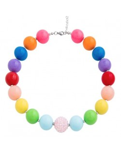 Multicolor Candy Fashion Beads Baby Necklace