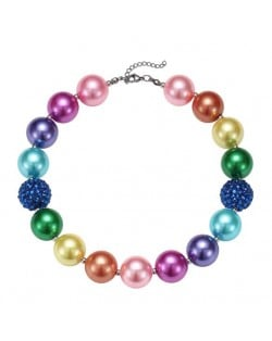 Rainbow Colors Beads Fashion Children Necklace