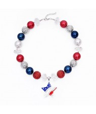 U.S.A. Fashion Star Pendant Toddler Necklace