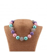 Various Colors Beads Fashion Toddler Necklace