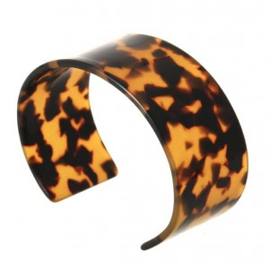 Abstract Pattern Open-end Design Resin Women Bangle - Leopard Prints