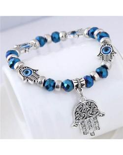 Magic Hands Theme Beads Fashion Women Costume Bracelet - Blue