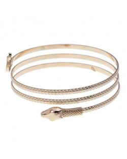 Snake High Fashion Alloy Women Bangle - Golden