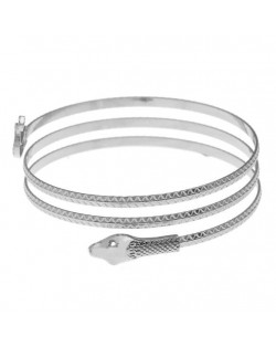 Snake High Fashion Alloy Women Bangle - Silver
