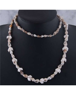 Bohemian Fashion Seashell Long Style Design High Fashion Women Necklace