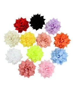(12 pcs) Chiffon Flowers Baby/ Toddler Hair Clip Set