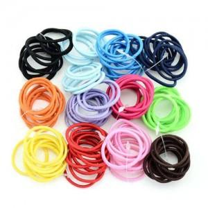(120 pcs) Elastic Multiclor Choices Baby Hair Band Set