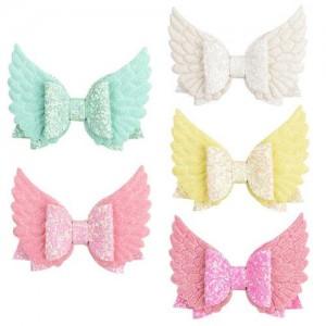 (5 pcs) Angel Wings Design Baby Girl Hair Clip Set