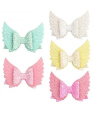 (5 pcs) Angel Wings Design Baby Girl Hair Clip Set