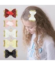 (5 pcs) Ballet Dancer Cloth Bowknot Design Baby Girl Hair Clip Set