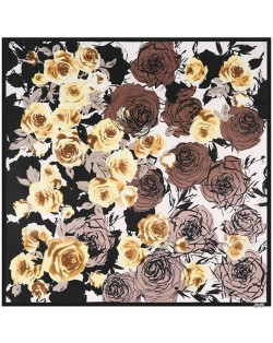 5 Colors Available Abstract Roses 130*130 cm Square Scarf
