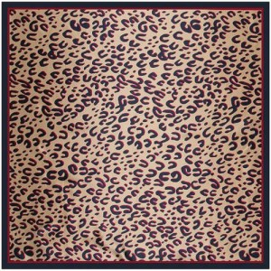 4 Colors Available Classic Leopard Prints Fashion 90*90 cm Artificial Silk Square Scarf