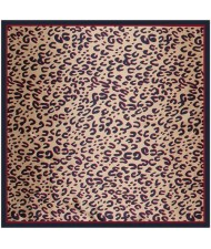 4 Colors Available Classic Leopard Prints Fashion 90*90 cm Artificial Silk Square Scarf