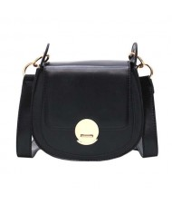 (4 Colors Available) Stitches Decorated Buckle Design High Fashion Lady Handbag/ Shoulder Bag