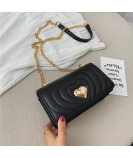 (4 Colors Available) Stitches Heart Fashion Design Women Handbag/ Shoulder Bag