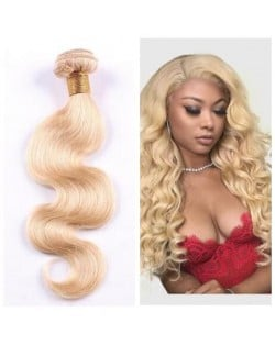 1 Bundle 613 Blonde Hair Body Wave Virgin Human Hair Weft/ Extensions