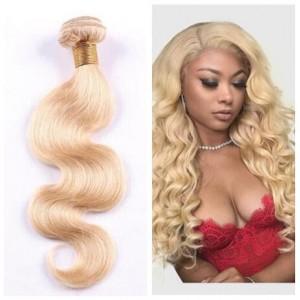 1 Bundle 613 Blonde Hair Body Wave Virgin Human Hair Weft/ Extensions