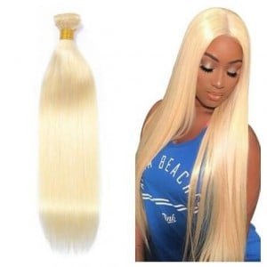 1 Bundle 613 Straight Body Wave Virgin Human Hair Weft/ Extensions