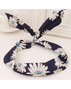 Korean Fashion Rabbit Ears Design Women Cloth Hair Band - Daisy
