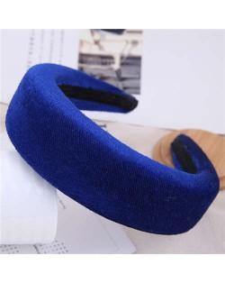 Velvet Thickened Design Women Hair Hoop - Blue