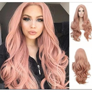 Japanese Fashion Middle Side Part Wave Long Style Women Synthetic Wig