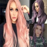 Japanese Cosplay Fashion Middle Side Part Body Wave Long Hair Women Synthetic Wig