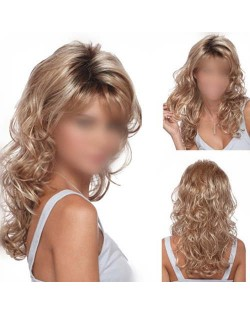 High Fashion Blonde Curly Hair Women Synthetic Wig
