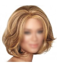 Blonde Curly High Fashion Short Hair Women Synthetic Wig