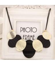 Oval Shape Pendants Design Rope Weaving Women Fashion Necklace