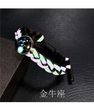 Constellation Pop Fashion Weaving Rope Luminous Bracelet - Taurus