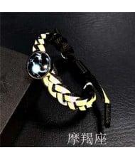 Constellation Pop Fashion Weaving Rope Luminous Bracelet - Capricorn