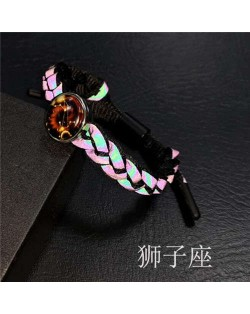 Constellation Pop Fashion Weaving Rope Luminous Bracelet - Leo