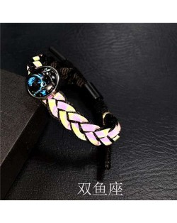 Constellation Pop Fashion Weaving Rope Luminous Bracelet - Pisces