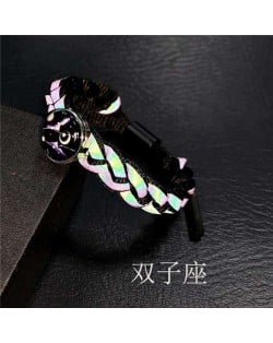 Constellation Pop Fashion Weaving Rope Luminous Bracelet - Gemini