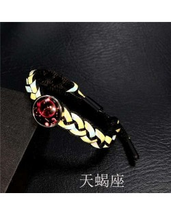 Constellation Pop Fashion Weaving Rope Luminous Bracelet - Scorpio