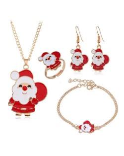 Santa Clause Christmas Fashion 4 pcs Costume Jewelry Set