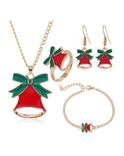 Christmas Bell Fashion 4 pcs Costume Jewelry Set