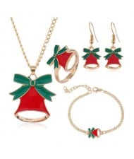 Christmas Bell Fashion 4 pcs Costume Jewelry Set