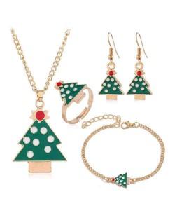 Christmas Tree Design 4 pcs Costume Jewelry Set