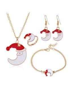 Moon Design Christmas Fashion 4 pcs Fashion Jewelry Set