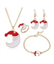 Moon Design Christmas Fashion 4 pcs Fashion Jewelry Set