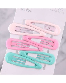 Candy Color Korean Cute Fashion Women Hair Clips Combo