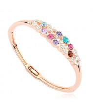 Austrian Crystal Embellished Charming Design Women Bangle - Multicolor